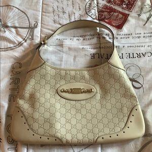 GG Gucci White Giccissima Leather